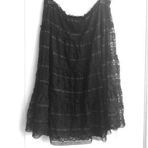 Studio M Black Lace Skirt Large